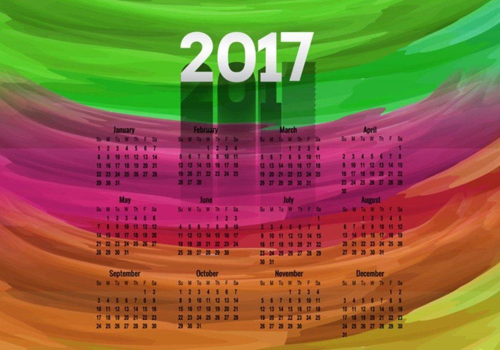 2017-calendar-38 58 Stunning Printable Calendar Templates