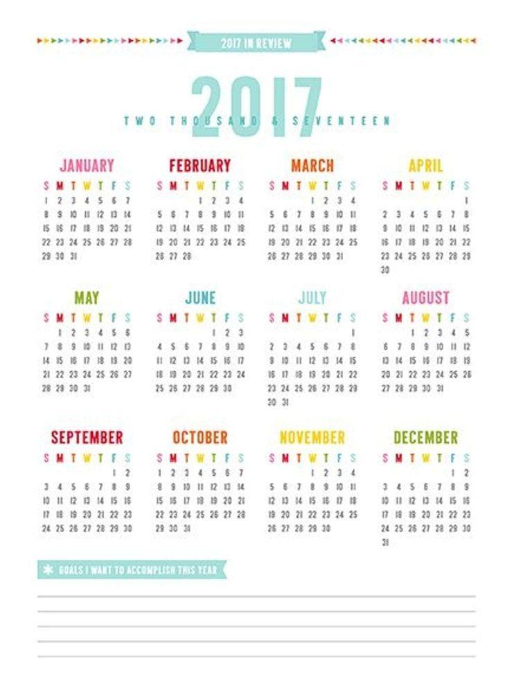 2017-calendar-40 58 Stunning 2017 Printable Calendar Templates