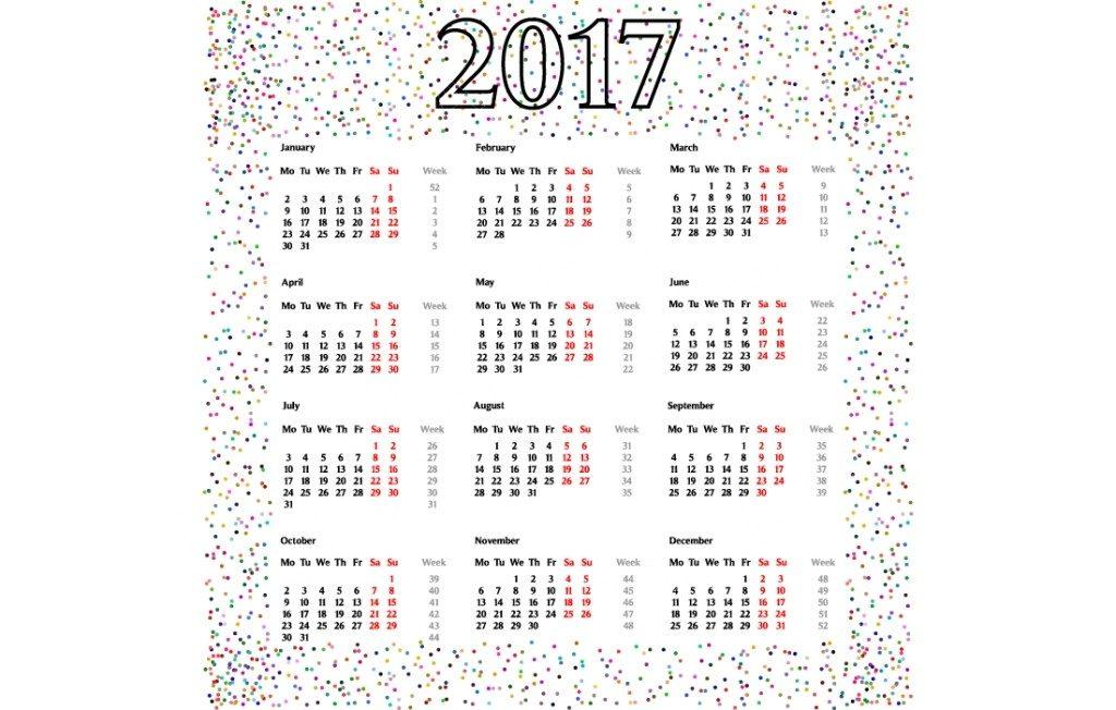 2017-calendar-42 58 Stunning 2017 Printable Calendar Templates