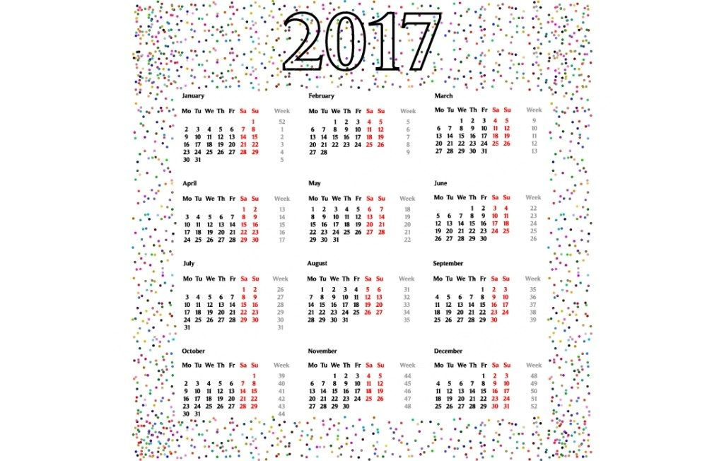 2017-calendar-42 58 Stunning Printable Calendar Templates