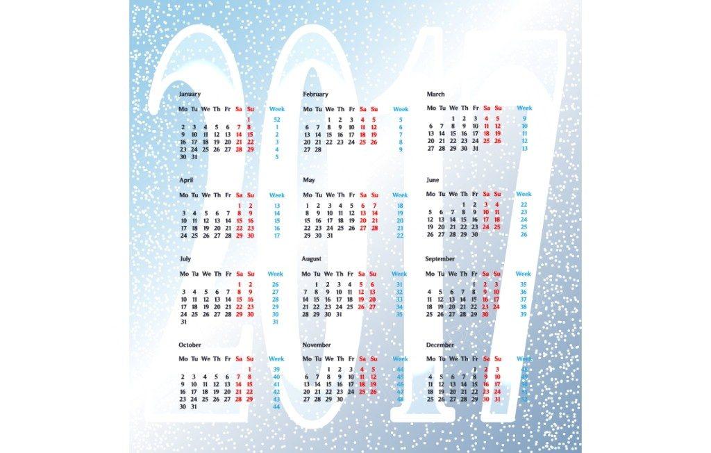 2017-calendar-43 58 Stunning Printable Calendar Templates
