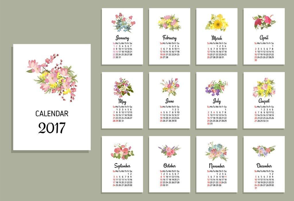 2017-calendar-44 58 Stunning Printable Calendar Templates
