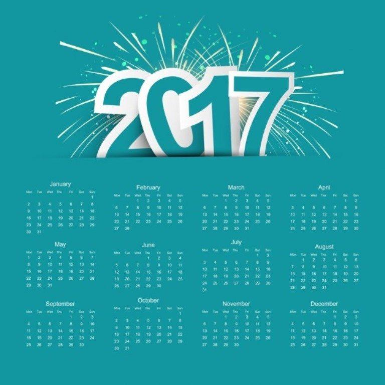 2017-calendar-45 58 Stunning Printable Calendar Templates