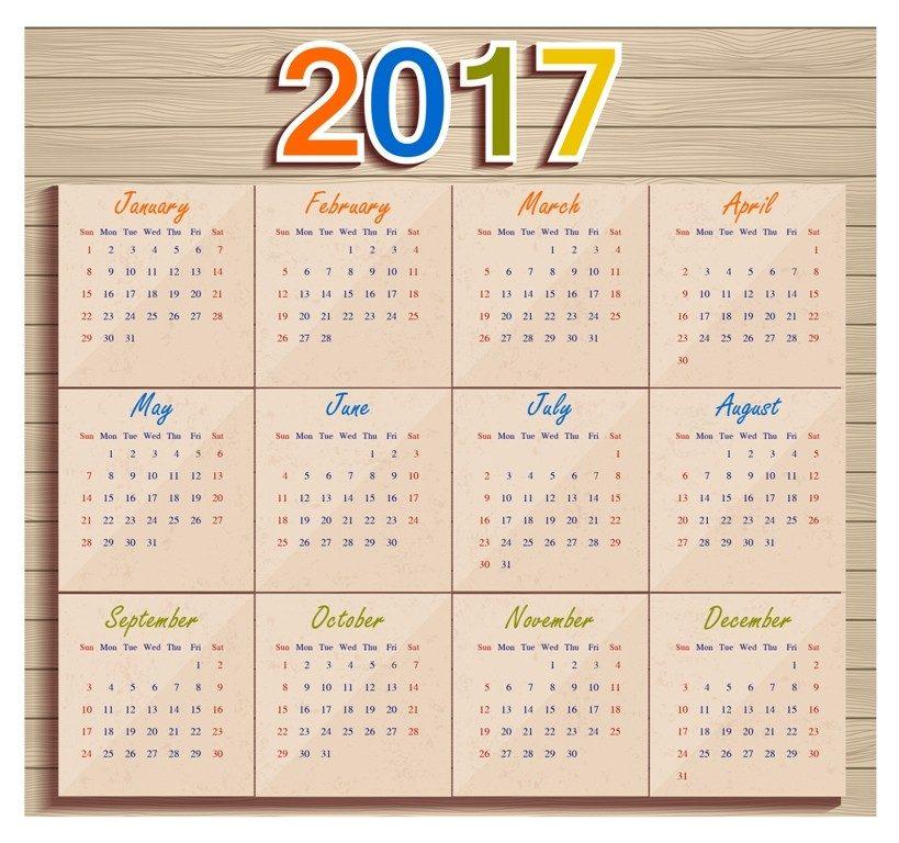 2017-calendar-49 58 Stunning Printable Calendar Templates