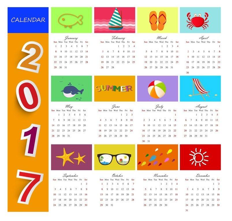 2017-calendar-50 58 Stunning Printable Calendar Templates