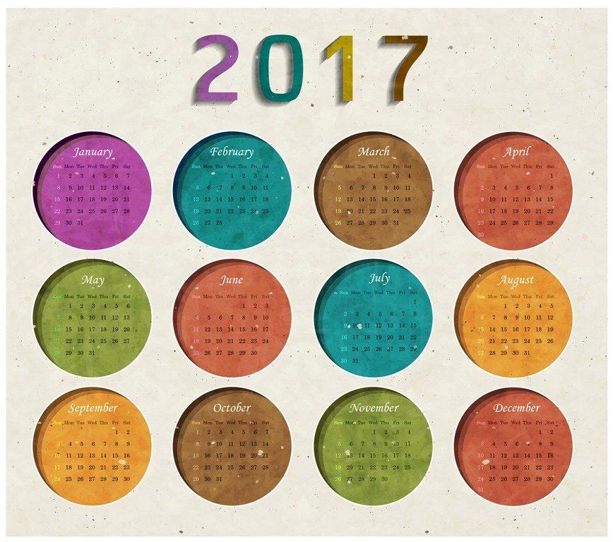 2017-calendar-51 58 Stunning Printable Calendar Templates