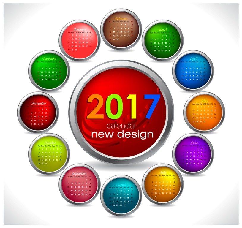 2017-calendar-54 58 Stunning Printable Calendar Templates