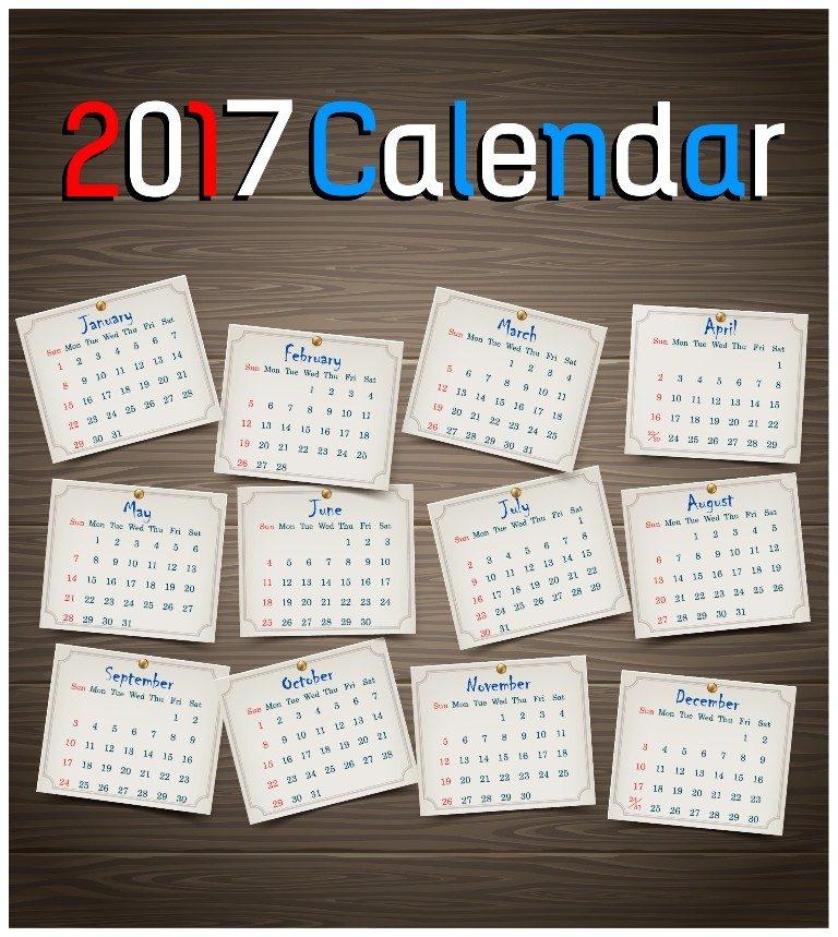 2017-calendar-56 58 Stunning Printable Calendar Templates