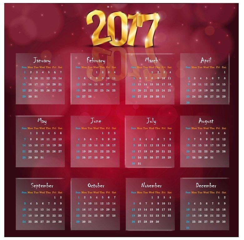 2017-calendar-57 58 Stunning Printable Calendar Templates
