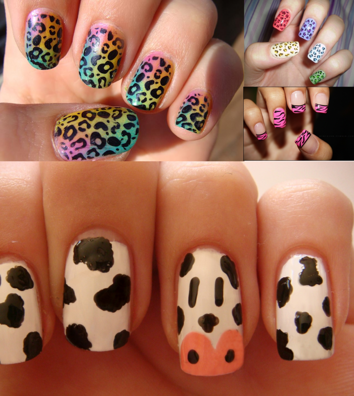 Animal-Print-Nail-Art 35 Nails Designs; How Do You Paint Your Nails?