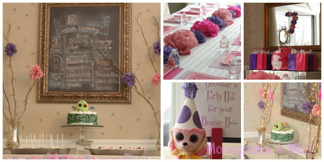 Beanie-Boo-Birthday-Party-tissue-pons-pink-purple-seven-girl 4 Most Creative Beanie Boo Birthday Party Ideas