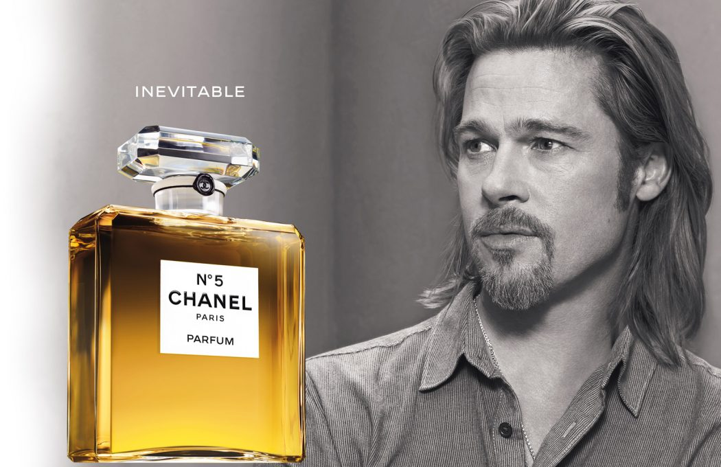 Brad-Pitt-Chanel-No5-01 5 Surprising Facts About Chanel