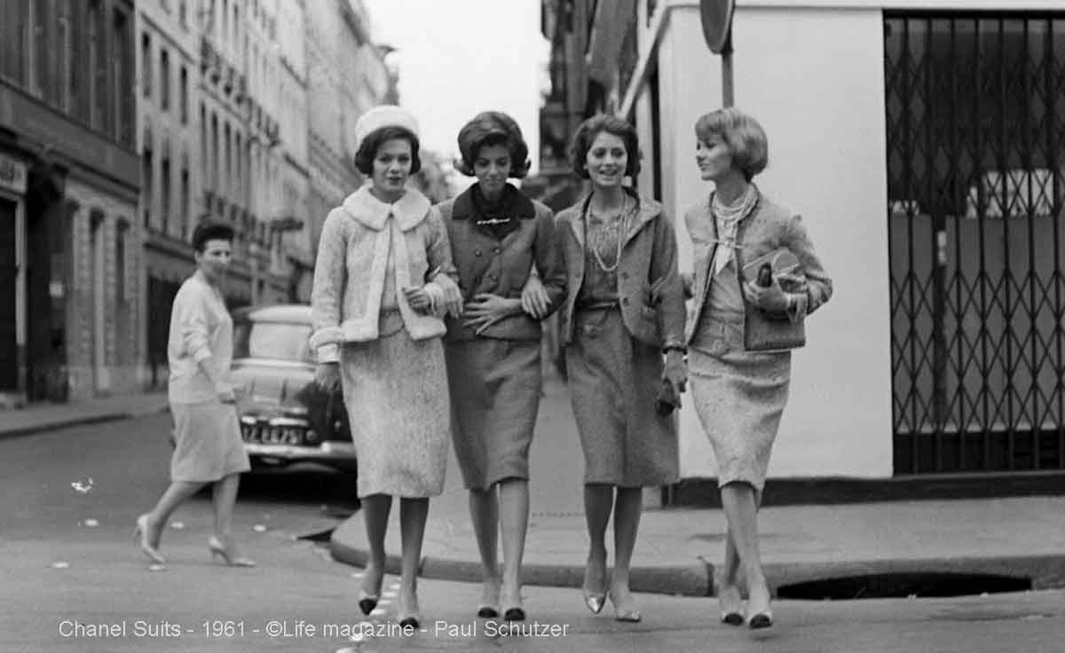 Chanel-suits-in-1961-Paul-Schutzer2 5 Surprising Facts About Chanel