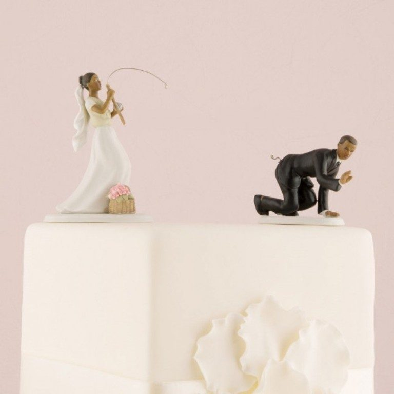 Gone-Fishing-wedding-cake-toppers 50+ Funniest Wedding Cake Toppers That'll Make You Smile [Pictures] ...