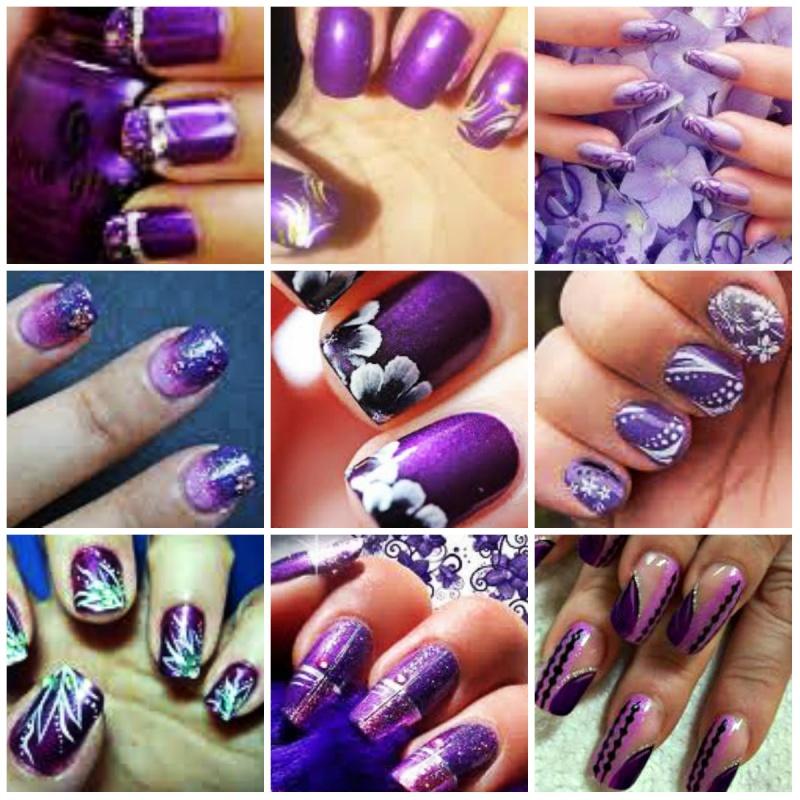 Nail-Art-Ideas-purple-design 35 Nails Designs; How Do You Paint Your Nails?