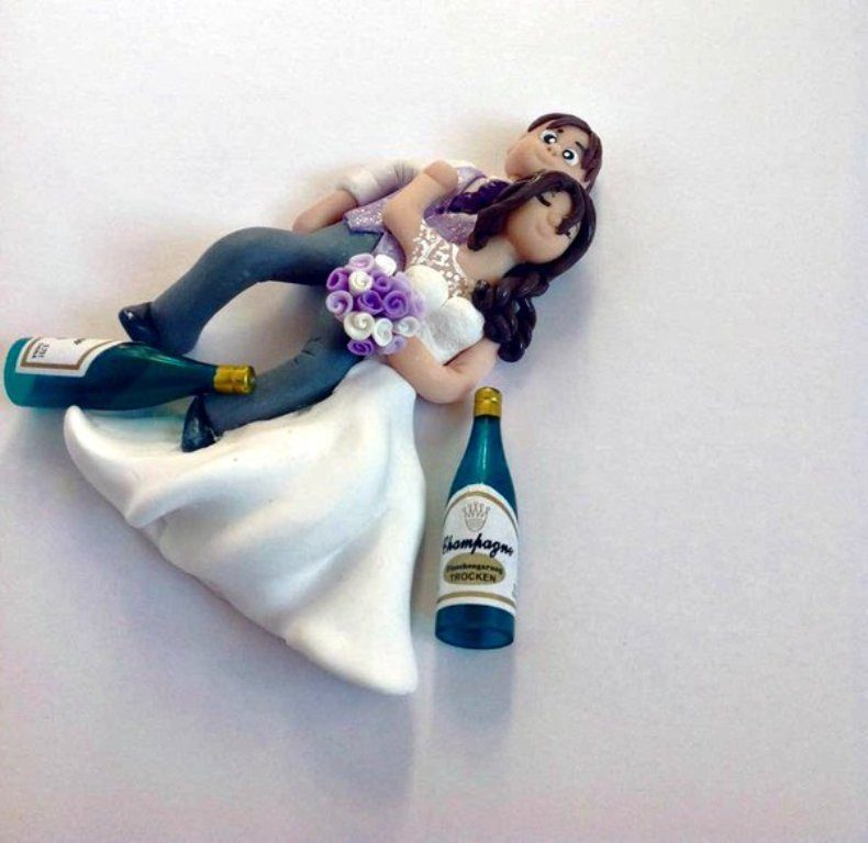 Partied-Too-Hard-wedding-cake-toppers-2 50+ Funniest Wedding Cake Toppers That'll Make You Smile [Pictures] ...