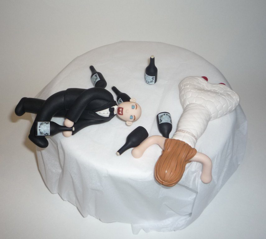 Partied-Too-Hard-wedding-cake-toppers-3 50+ Funniest Wedding Cake Toppers That'll Make You Smile [Pictures] ...