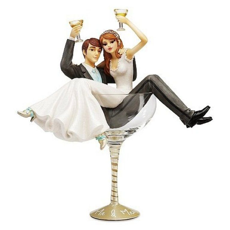 Partied-Too-Hard-wedding-cake-toppers 50+ Funniest Wedding Cake Toppers That'll Make You Smile [Pictures] ...