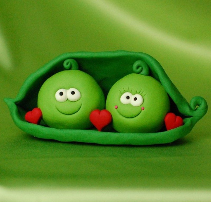 Peas-in-a-Pod-wedding-cake-toppers 50+ Funniest Wedding Cake Toppers That'll Make You Smile [Pictures] ...