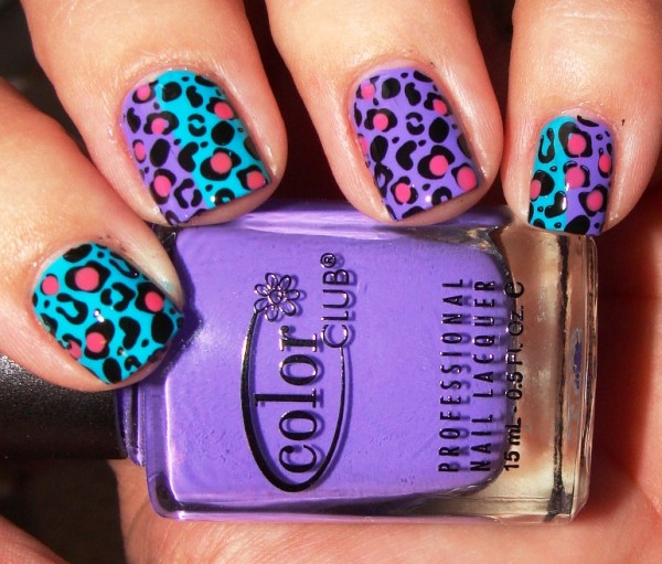 Pink-White-Cheetah-Cute-Nail-Designs-for-Short-Nails 35 Nails Designs; How Do You Paint Your Nails?