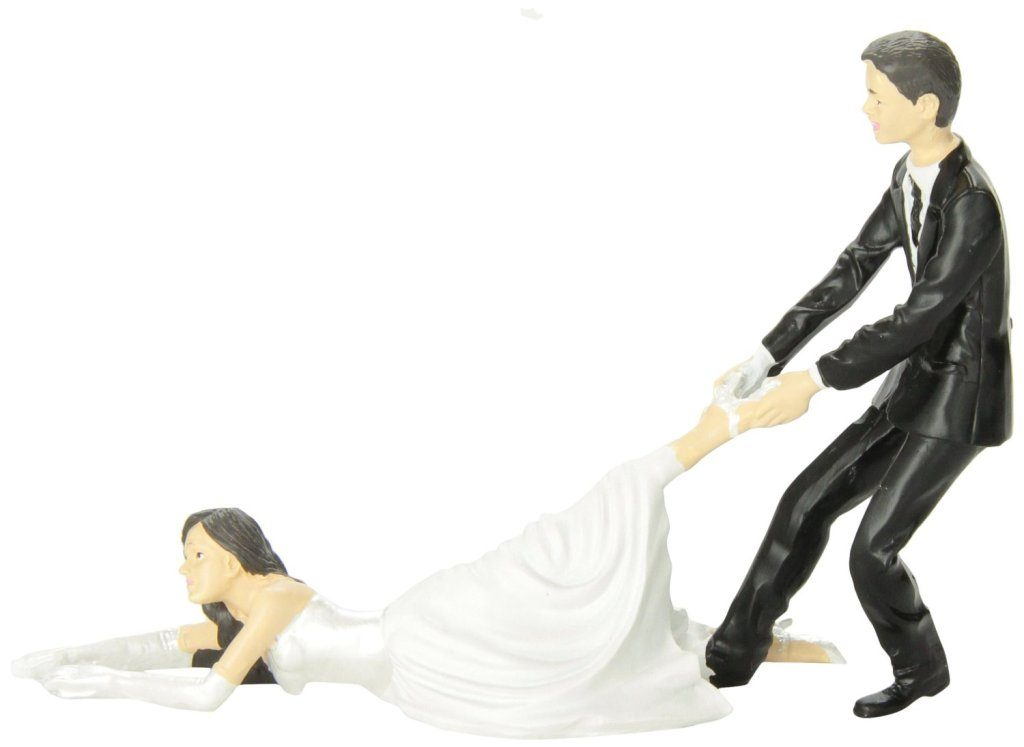 Runaway-Brides-wedding-cake-toppers-3 50+ Funniest Wedding Cake Toppers That'll Make You Smile [Pictures] ...