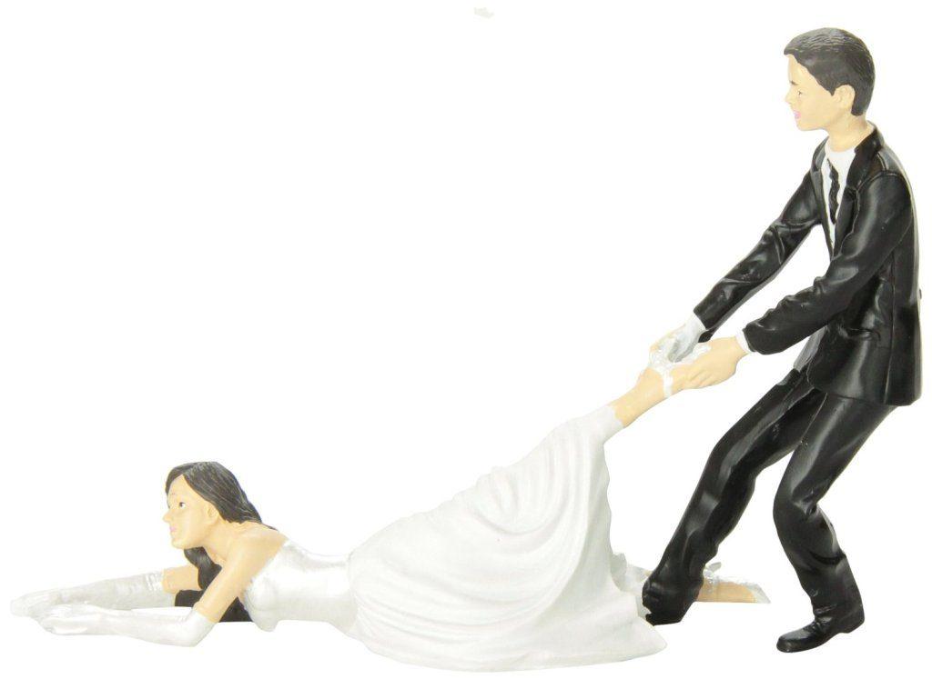 Runaway-Brides-wedding-cake-toppers-3 50+ Funniest Wedding Cake Toppers That'll Make You Smile [Pictures] ...
