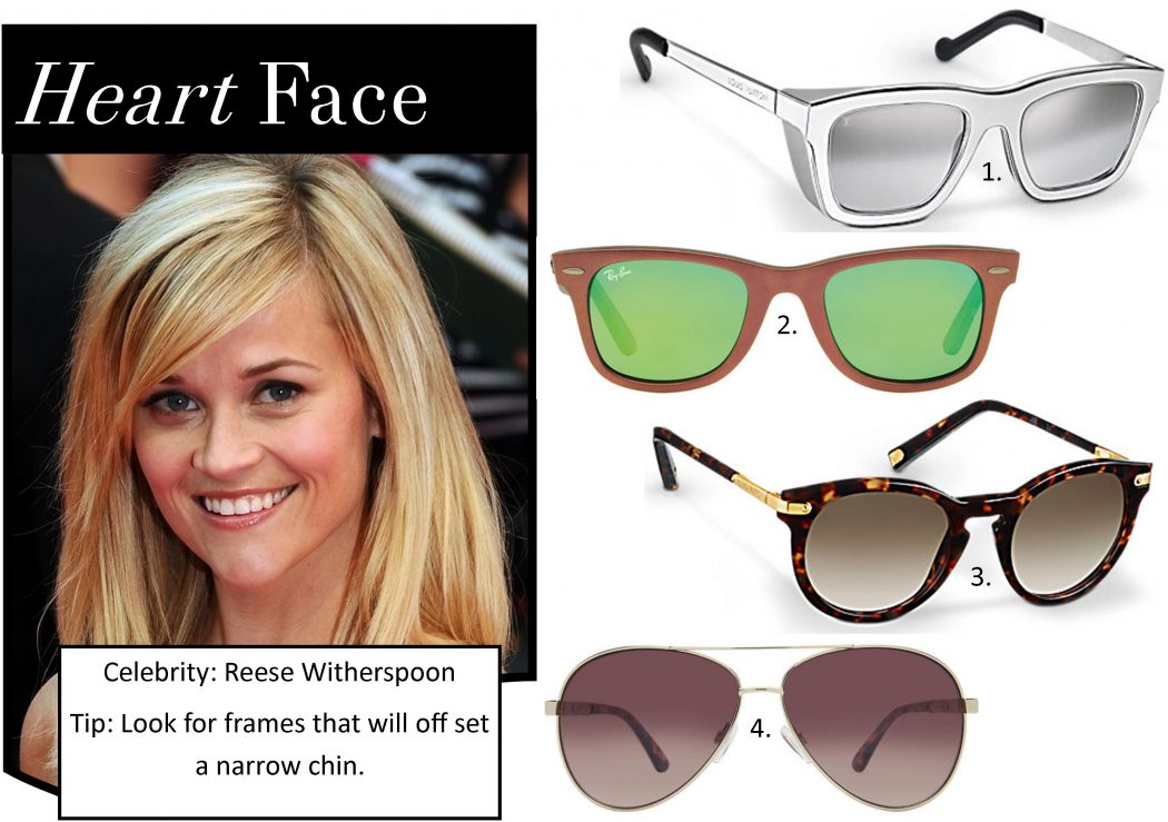 Sunglasses-Heart-Face_1 How To Find The Sunglasses Style That Suit Your Face Shape