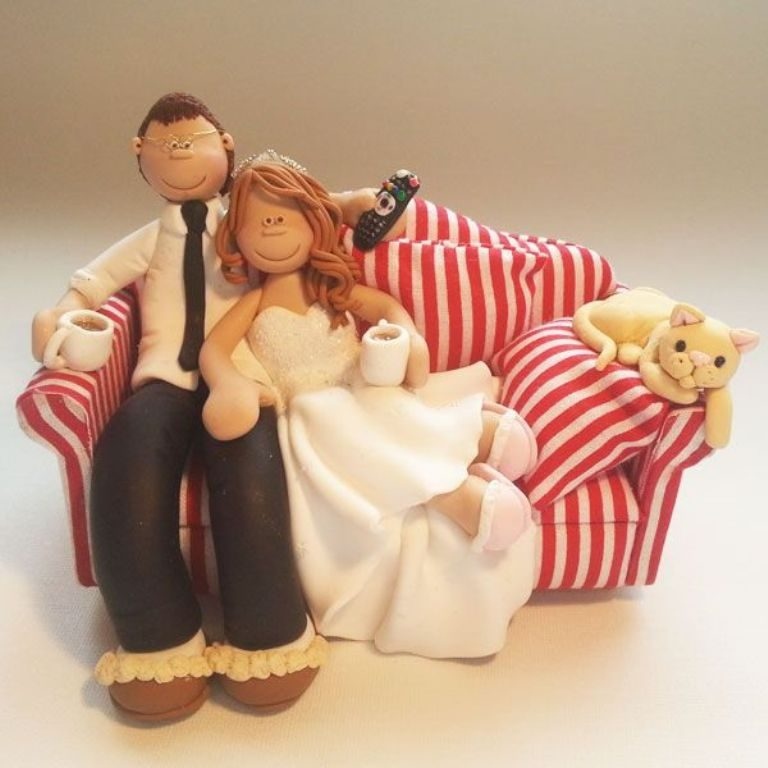 Too-Tired-After-The-Day-wedding-cake-toppers-5 50+ Funniest Wedding Cake Toppers That'll Make You Smile [Pictures] ...