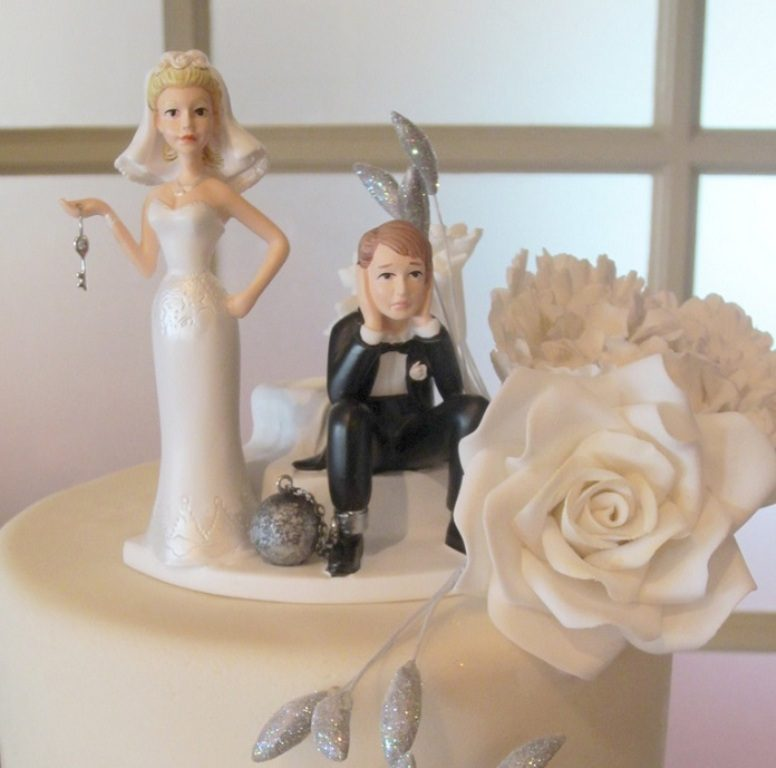 Under-Ball-and-Chain-wedding-cake-topper-2 50+ Funniest Wedding Cake Toppers That'll Make You Smile [Pictures] ...