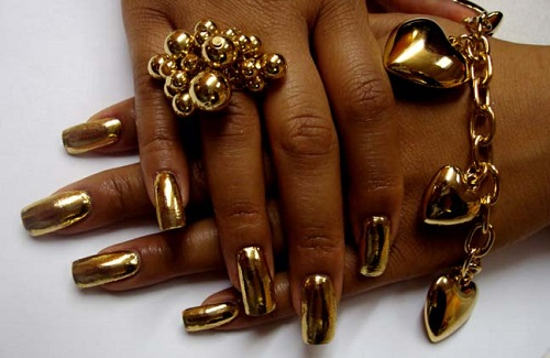 Vinny-Nails-Golden-Design-Ideas 35 Nails Designs; How Do You Paint Your Nails?