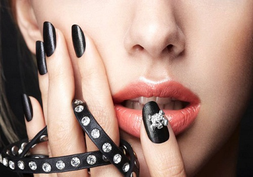 black-nail-tips 35 Nails Designs; How Do You Paint Your Nails?