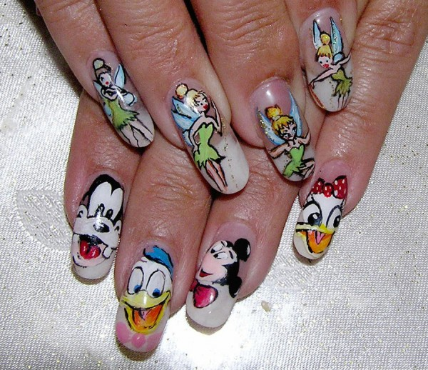 disney-nail-art 35 Nails Designs; How Do You Paint Your Nails?