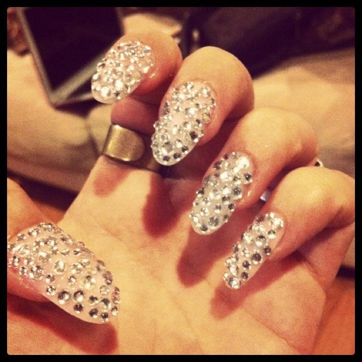 gel-nail-art-swag-diamond-moment-inspired-by-mariah-carey-nail-swag-nail-designs 35 Nails Designs; How Do You Paint Your Nails?