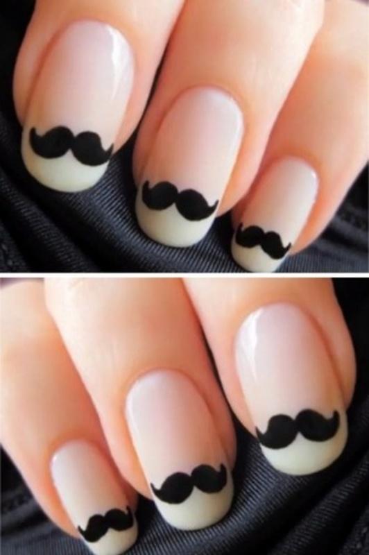 moustachefunnysocutehobbypinnedimagecreative-f578884431f3af1b3102af7b4136c311_h 35 Nails Designs; How Do You Paint Your Nails?