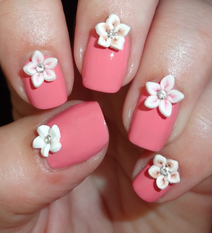 pink-flowers-3a 35 Nails Designs; How Do You Paint Your Nails?