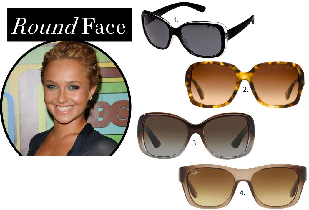 sunglasses-for-round-face How To Find The Sunglasses Style That Suit Your Face Shape