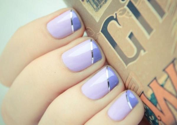 unique-wedding-nail-art-bridal-beauty-details-lilac-silver-pastel-purple.original 35 Nails Designs; How Do You Paint Your Nails?