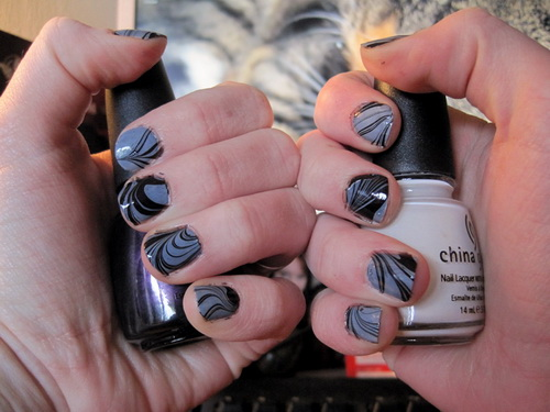 water-nail-art-for-short-nails 35 Nails Designs; How Do You Paint Your Nails?