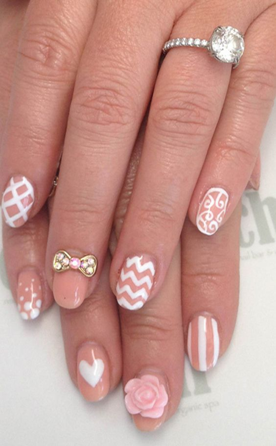 9059703e13e178f49af2570926231f18 50+ Coolest Wedding Nail Design Ideas