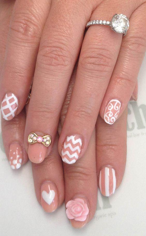 9059703e13e178f49af2570926231f18 50+ Coolest Wedding Nail Design Ideas