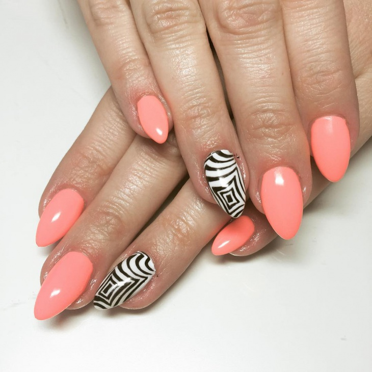 Black-Striped-Nail-Design 50+ Coolest Wedding Nail Design Ideas