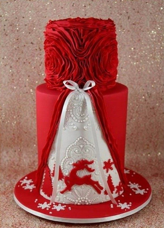 Christmas-Cake-Decoration-Ideas-2017-12 82+ Mouthwatering Christmas Cake Decoration Ideas