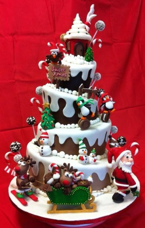 Christmas-Cake-Decoration-Ideas-2017-13 82+ Mouthwatering Christmas Cake Decoration Ideas 2019