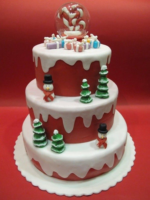 Christmas-Cake-Decoration-Ideas-2017-14 82+ Mouthwatering Christmas Cake Decoration Ideas 2019