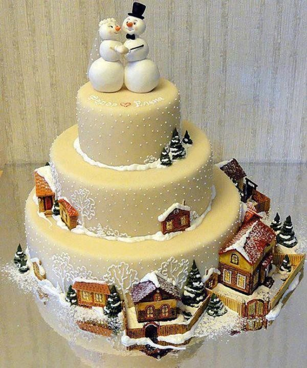 Christmas-Cake-Decoration-Ideas-2017-16 82+ Mouthwatering Christmas Cake Decoration Ideas 2019