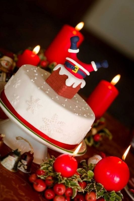 Christmas-Cake-Decoration-Ideas-2017-18 82+ Mouthwatering Christmas Cake Decoration Ideas