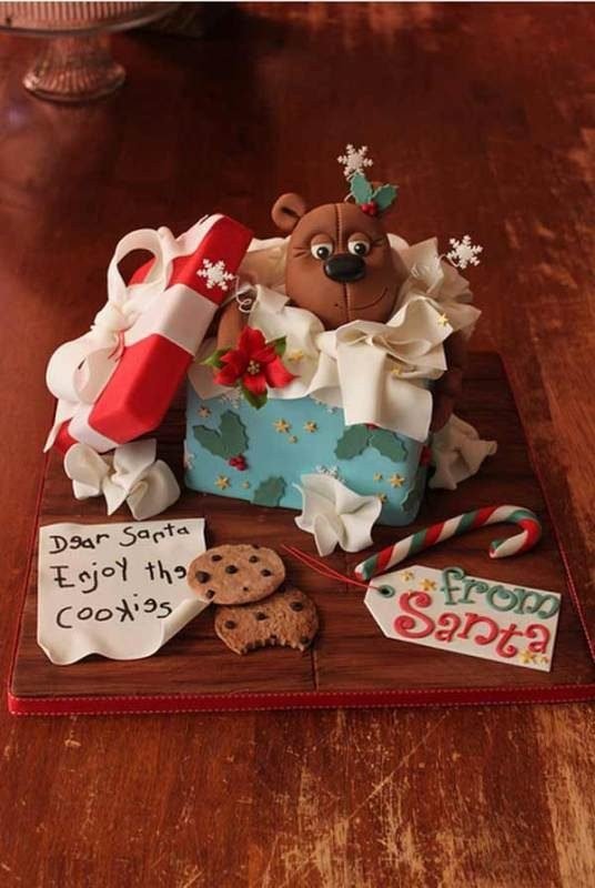 Christmas-Cake-Decoration-Ideas-2017-19 82+ Mouthwatering Christmas Cake Decoration Ideas