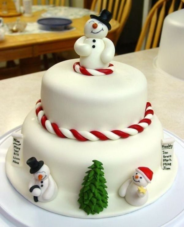 Christmas-Cake-Decoration-Ideas-2017-23 82+ Mouthwatering Christmas Cake Decoration Ideas 2019