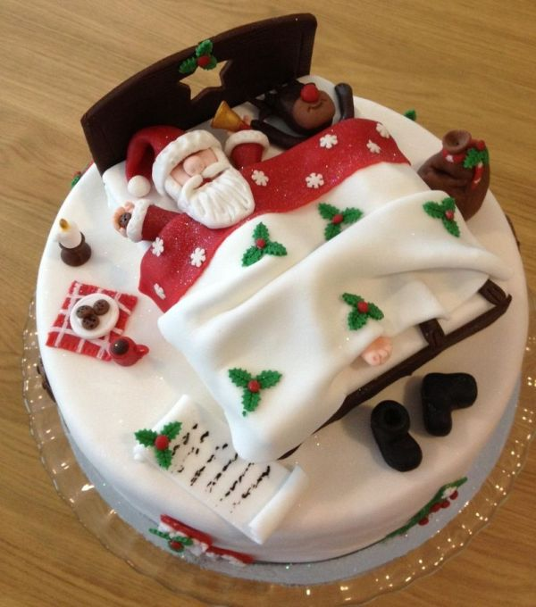 Christmas-Cake-Decoration-Ideas-2017-25 82+ Mouthwatering Christmas Cake Decoration Ideas 2019