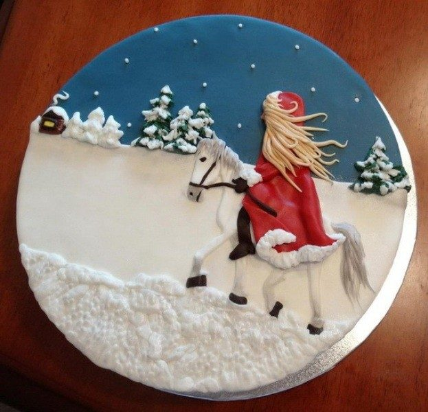 Christmas-Cake-Decoration-Ideas-2017-36 82+ Mouthwatering Christmas Cake Decoration Ideas 2019